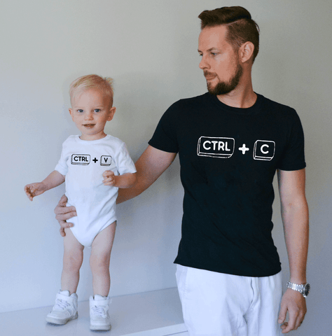 Ctrl+C Ctrl+V Daddy and Me Shirts