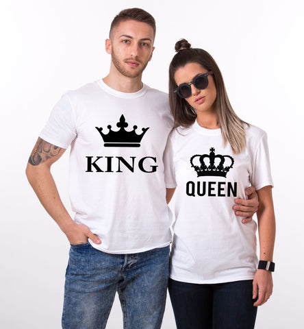 King Queen Big Crowns, Couples Matching Set