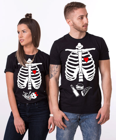 Maternity Baby Girl, Halloween Skeleton Shirts, Couples Matching Set
