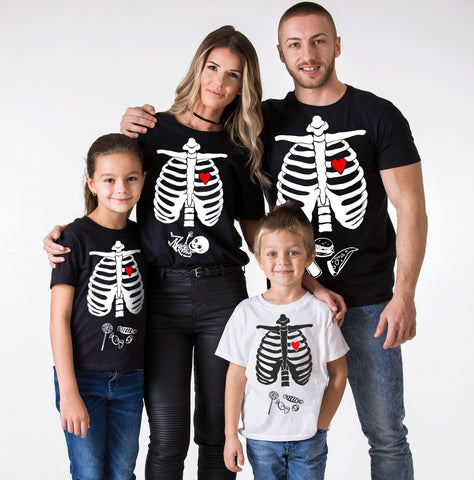 Halloween Skeleton Shirts, Maternity Shirt, Family Matching Set