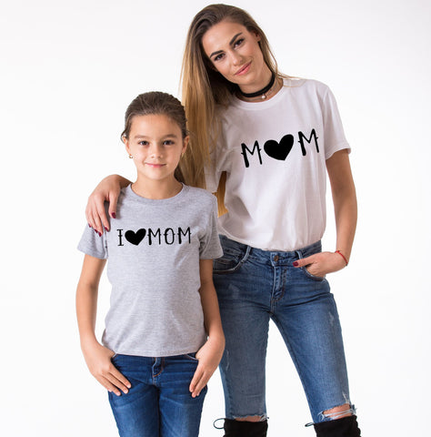 Mom I love Mom, Mommy and Me Shirts