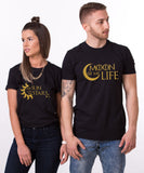 Moon of my Life, My Sun and my Stars, Couples Matching Set of Shirts