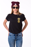 Pineapple shirt, Pineapple t-shirt,Pineapple Tshirt, 100% cotton Tee, Black/White/Gray, UNISEX