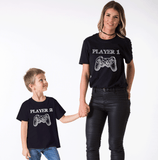 Player 1 Player 2, Daddy and Me, Family Shirts