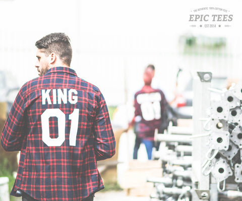King 01 Red Plaid Shirt