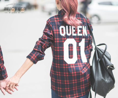 Queen 01 Red Plaid Shirt