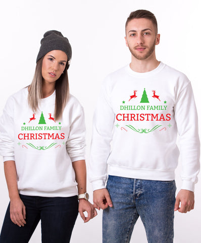 Custom name Christmas family sweatshirt, Ugly Christmas sweater, Family matching sweaters, UNISEX