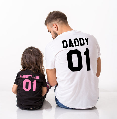 Daddy Daddy's Girl Shirts, Daddy and Me Matching Set of Shirts