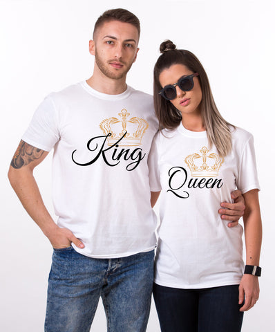Matching shirts for couples, King Shirt, Queen Shirt, Big Crowns, Set of two, Matching Couple Shirts, UNISEX