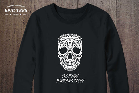 Skull screw perfection Crewneck, Skull screw perfection Sweatshirt, 50/50% Cotton/Polyester Crewneck, UNISEX