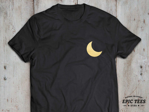 Moon Shirt, Moon T-shirt, 100% cotton Tee, Black/White/Gray, UNISEX