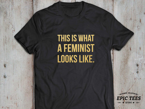 This is what a feminist looks like T-shirt, Tumblr shirt, Tumblr top, 100% cotton Tee, Black/Gray/White/Heather blue, UNISEX