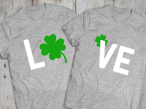 St Patricks day shirts, Irish shirts, Irish clover shirts, Irish 01, Clover shirts, Clover shirt, Set of Two t-shirts, UNISEX