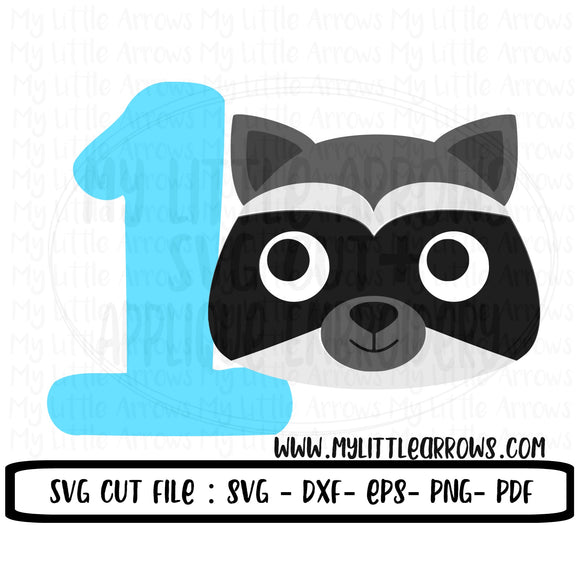 One Raccoon SVG