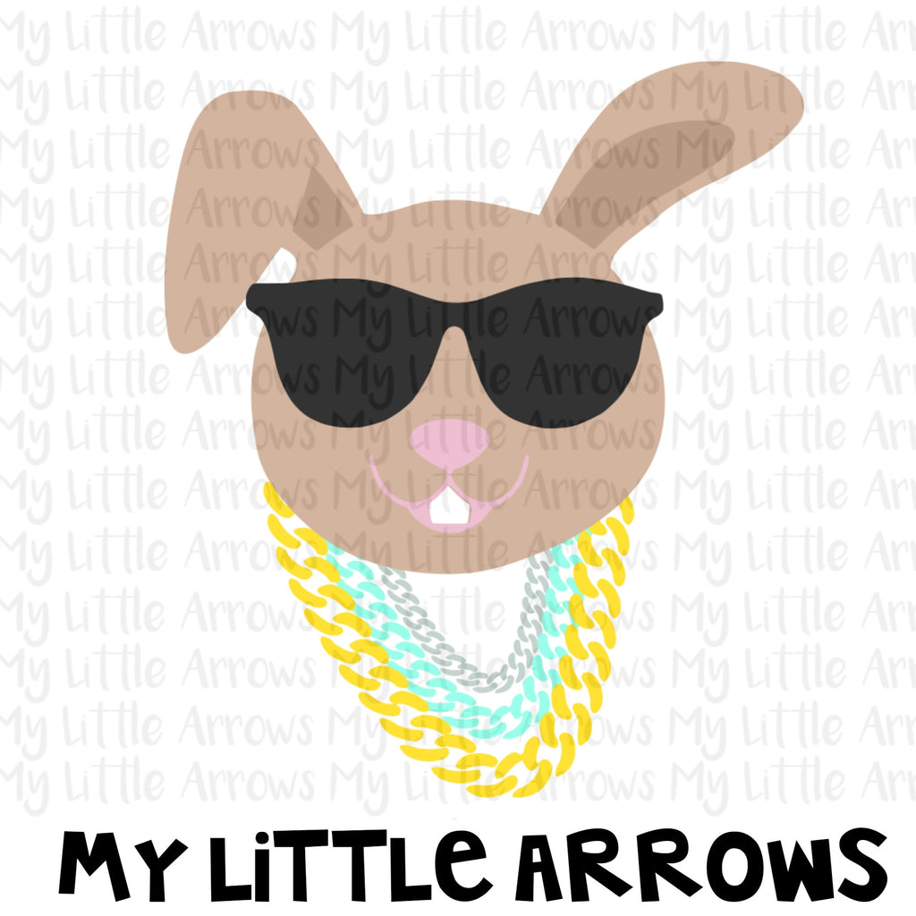 Hip hop bunny sunglasses SVG, DXF, EPS, png Files for Cutting Machines Cameo or Cricut - boy easter svg - boy rabbit svg - bunny svg - boy svg