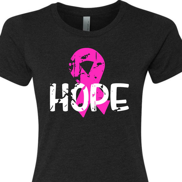 Hope pink ribbon shirt