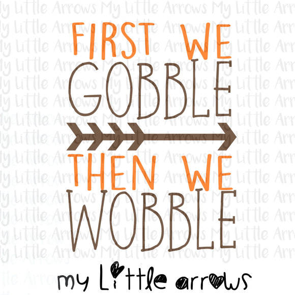 First we gobble then we wobble SVG