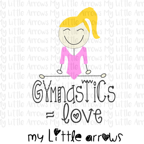 Gymnastics equals love SVG, DXF, EPS, png Files for Cutting Machines Cameo or Cricut -cute girl svg - gymnastic svg  - gymnastic clip art