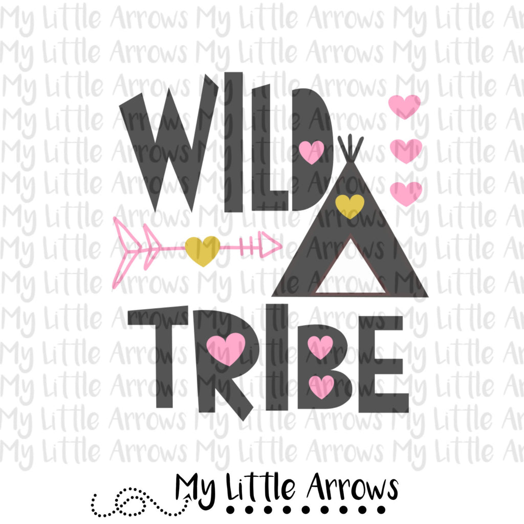 Wild Tribe SVG, DXF, EPS, png Files for Cutting Machines Cameo or Cricut // tribe svg // arrow svg // toddler girl svg // wigwam svg