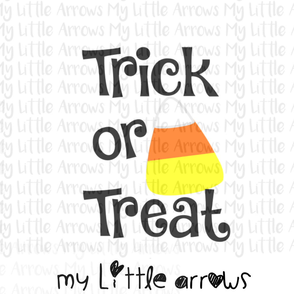 Trick or treat halloween candy SVG, DXF, EPS, png Files for Cutting Machines Cameo or Cricut - halloween svg - halloween shirt diy - candy