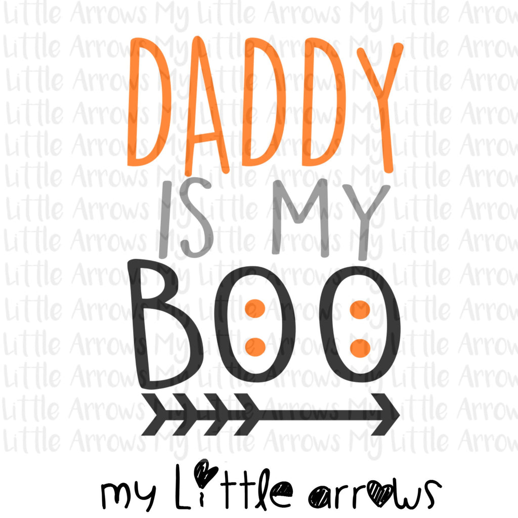 Halloween Daddy is my boo SVG, DXF, EPS, png Files for Cutting Machines Cameo or Cricut // halloween svg // halloween shirt diy // girl svg