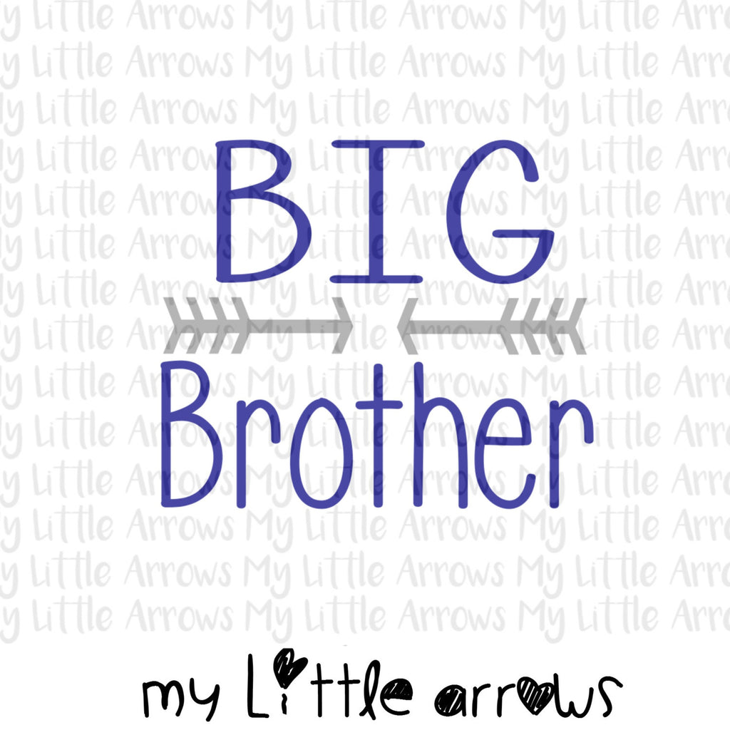 Big brother arrow SVG, DXF, EPS, png Files for Cutting Machines Cameo or Cricut // big brother svg // pregnancy reveal svg // sibling svg - Modern cute cut embroidery and applique files.  SVG, DXF, EPS, PNG, PDF, JEF, PES, PEC, XXX, HUS, EXP, VIP, DST