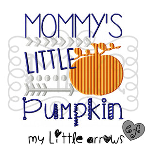 Mommy's little pumpkin embroidery