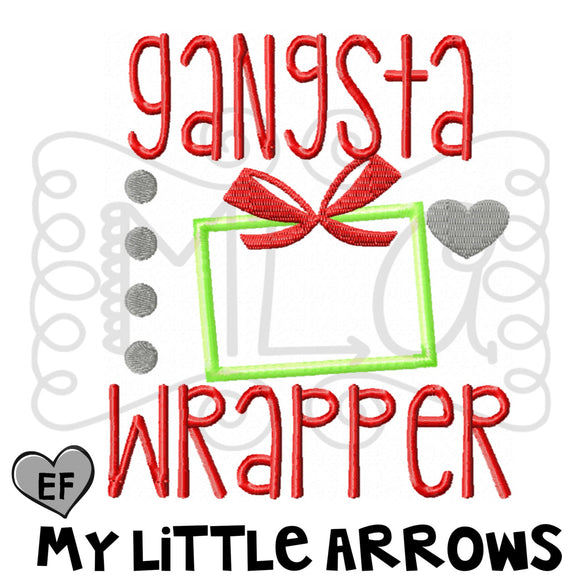 Gangsta Wrapper Applique
