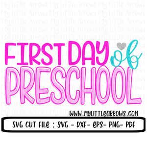 First day of preschool SVG