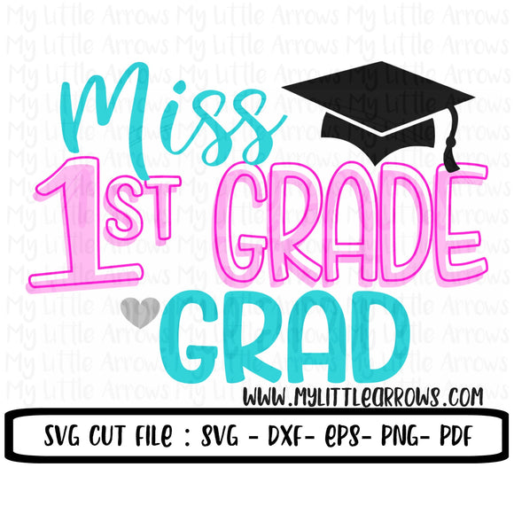 1st grade graduation SVG, Dxf, Eps, png Files for Cutting Machines Cameo or Cricut - 1st grade graduate svg // graduation svg