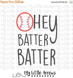 Baseball hey batter batter SVG, DXF, EPS, png Files for Cutting Machines Cameo or Cricut // baseball svg