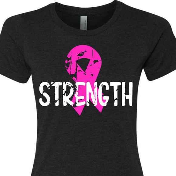 strength pink ribbon shirt