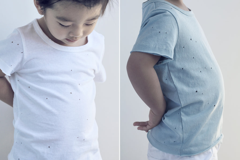 holey tee, hole tee shirt, baby boy fashion, boy street style, baby boy linen pants, baby boy styling