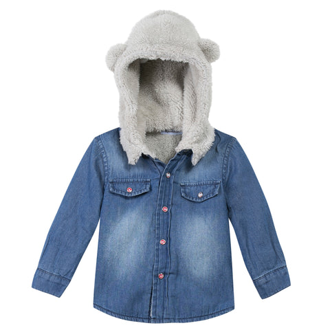 3 Pommes Bear Ear Hood Jean Overshirt