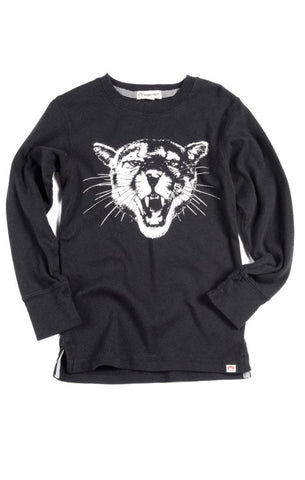 Appaman Big Cat Long Sleeve Tee (Black)