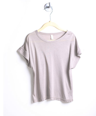 Loose Fit Butter Tee (Stone)