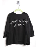 Wide Body Drape Long Sleeve Tee (Black)