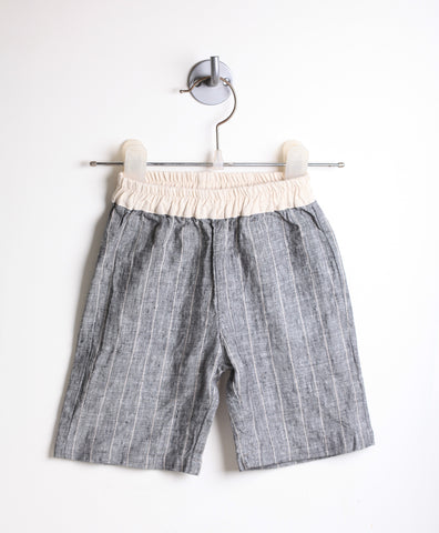 Linen Mid-Calf Summer Pants (Gray)