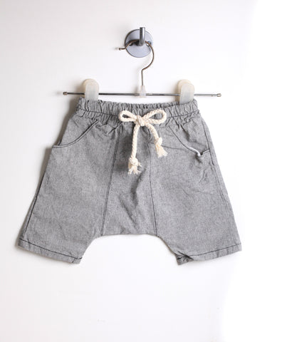 Drop Crotch Harem Shorts (Gray)