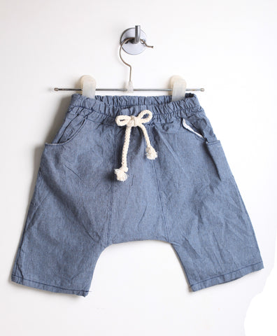 Drop Crotch Harem Shorts (Blue)