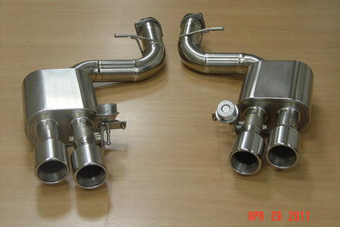 Ferrari 599 Titek Titanium axle back exhaust with valves