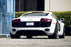 Audi R8 V-8 TiTek catback system with valves on the exhaust
