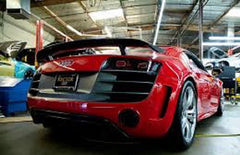 Audi R8 V-10 catback system with valves on the exhaust