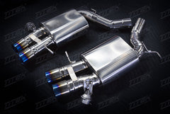 BMW F10/12/13 M5/M6 axle back titanium exhaust with valves