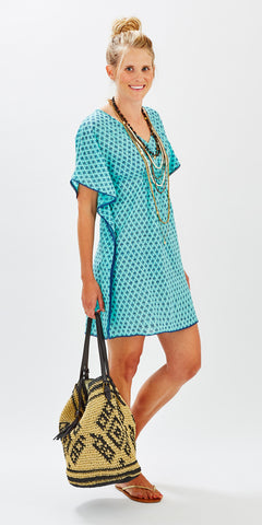 BOHO COVER-UP GEO MINT - FINAL SALE - Rikshaw Design - 1