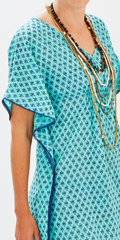 BOHO COVER-UP GEO MINT - FINAL SALE - Rikshaw Design - 2