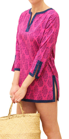 LONG SLEEVE COVER-UP JHARNA ORCHID - FINAL SALE - Rikshaw Design - 2