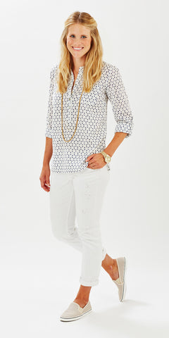 CAMP SHIRT POLKA DOT DENIM - Rikshaw Design - 1