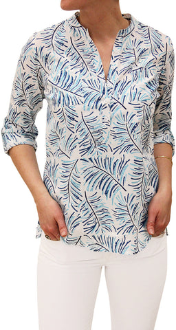 CAMP SHIRT FERN SKY BLUE - FINAL SALE - Rikshaw Design - 2