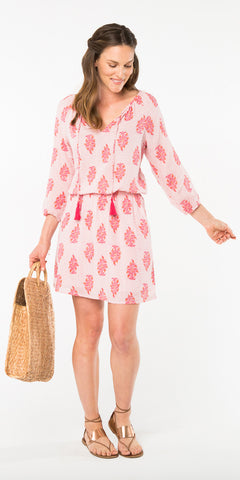 GEMMA TASSEL DRESS MADURAI LIGHT PINK